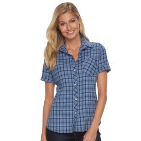 Women's Woolrich Tall Pine Seersucker Plaid Shirt