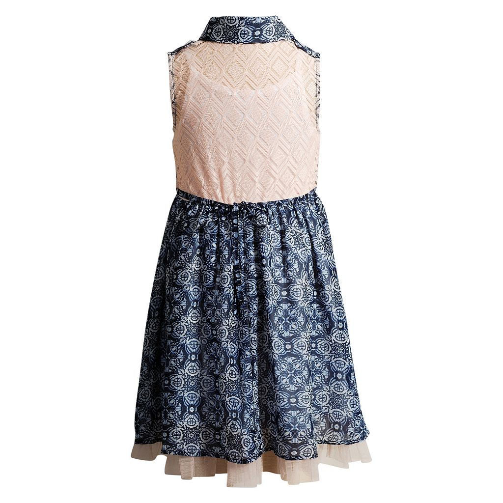 Girls 4-6x Youngland Collared Paisley Dress