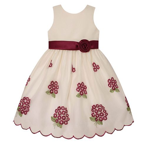 Girls 7-16 & Plus Size American Princess Embroidered Floral Bouquet ...