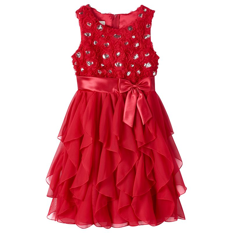 Girls 7-16 & Plus Size American Princess Corkscrew Dress, Girl's, Size: 12 1/2PLUS, Red