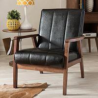 Baxton Studio Nikko Lounge Chair