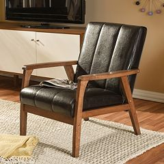 Baxton Studio Nikko Lounge Chair