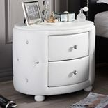Baxton Studio Davina Holly Glamour Oval Nightstand