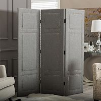 Baxton Studio Rochelle Linen Folding Screen Room Divider