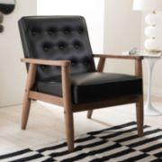 Baxton Studio Sorrento Mid-Century Modern Lounge Accent Chair