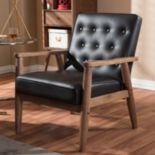 Baxton Studio Sorrento Mid-Century Modern Lounge Accent Chair