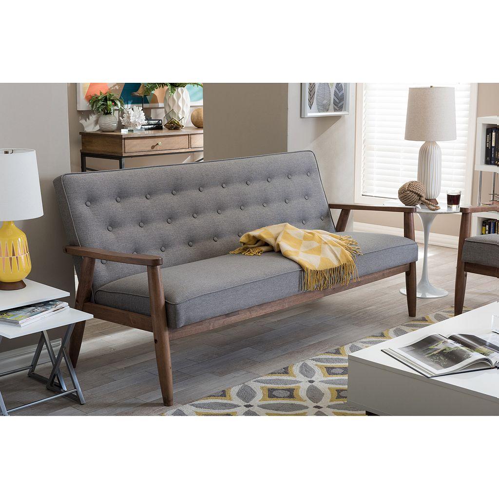 Baxton Studio Sorrento Mid-Century Modern Sofa