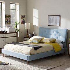 Baxton Studio Hannah Mid-Century Modern Platform Bed