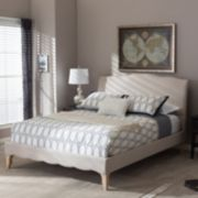 Baxton Studio Fannie French Classic Modern Platform Bed