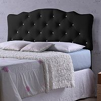 Baxton Studio Rita Faux Leather Scalloped Headboard