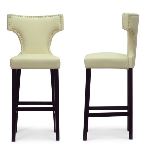 Baxton Studio Hafley Modern Bar Stool 2-piece Set