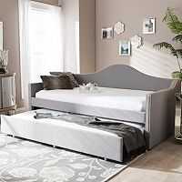 Baxton Studio Prime Upholstered Linen Daybed & Trundle