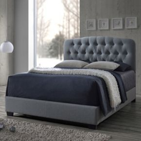 Baxton Studio Romeo Button Tufted Upholstered Bed