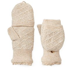 Women's SONOMA Goods for Life™ Marled Convertible Flip-Top Mittens