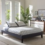 Baxton Studio Lancashire Faux-Leather Bed Frame
