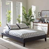 Baxton Studio Lancashire Faux-Leather Bed Frame