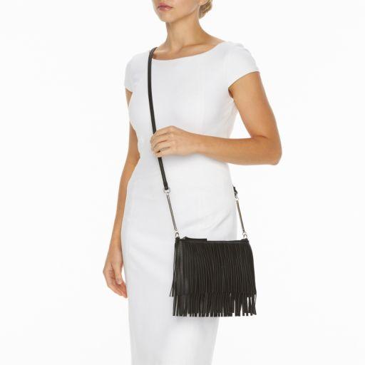 Candie's® Kristina Fringe Mini Crossbody Bag