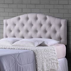 Baxton Studio Myra Button Tufted Upholstered Headboard
