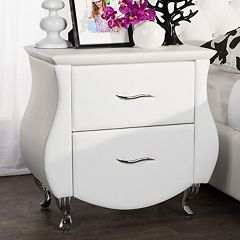 Baxton Studio Erin Upholstered Faux-Leather Nightstand