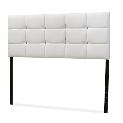 Baxton Studio Bordeaux Tufted Faux-Leather Headboard