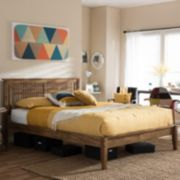 Baxton Studio Loafey Window Pane Platform Bed