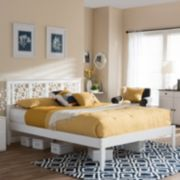 Baxton Studio Celine Circles Platform Bed