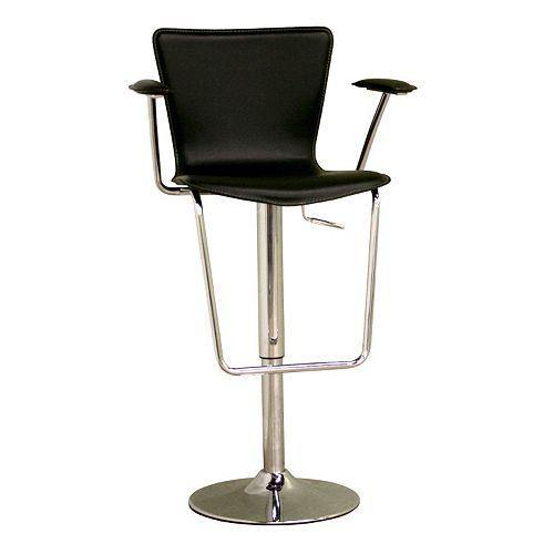 Wondrous Baxton Studio Leather Adjustable Swivel Bar Stool Uwap Interior Chair Design Uwaporg