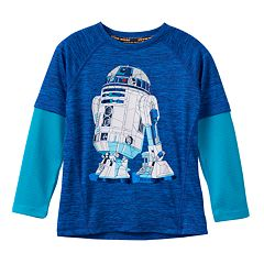 Boys 4-7x Star Wars a Collection for Kohl's Mosaic R2-D2 Thermal Space-Dye Skater Tee