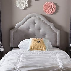 Baxton Studio Cora Button Tufted Upholstered Headboard by