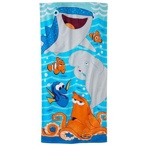 Finding Nemo Bath Towel Set: Disney / Pixar Finding Dory Dory, Nemo & Hank Beach Towel
