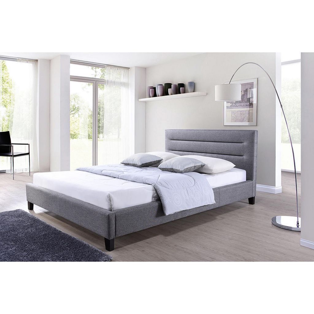 Baxton Studio Hillary Fabric Platform Bed