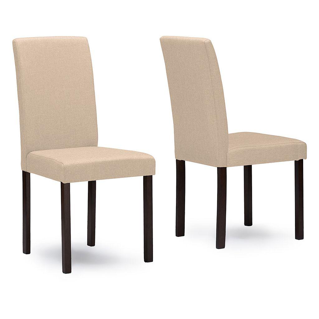 Baxton Studio Andrew Fabric Dining Chair 2-piece Set