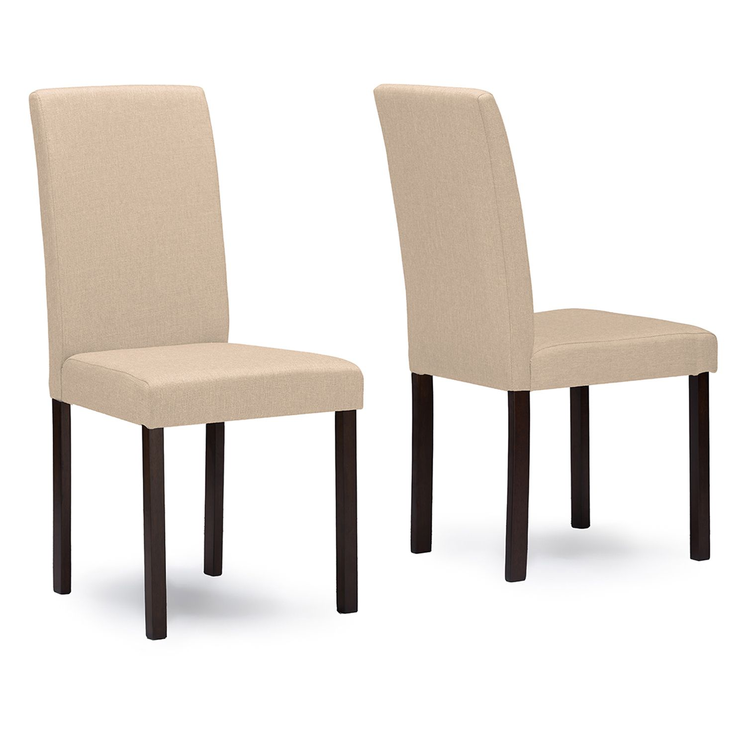 Baxton Studio Andrew Fabric Dining Chair 2 Piece Set