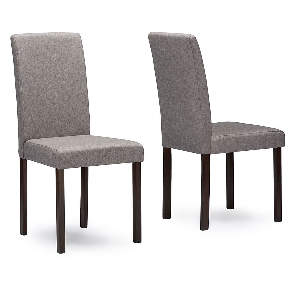 Baxton Studio Andrew Fabric Dining Chair 2-piece Set