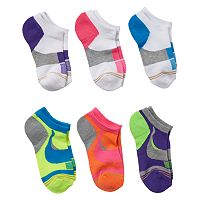 Girls 4-16 GOLDTOE 6 pkCushion Liner Socks