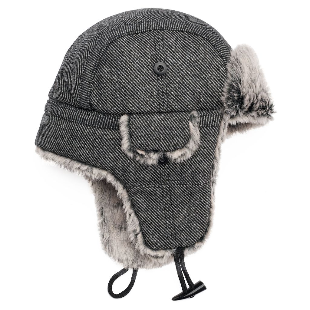 Peter Grimm Lennox Diagonal Stripe Trapper Hat