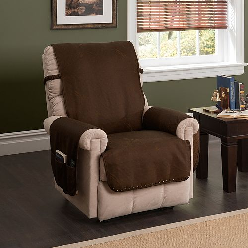 Innovative Textile Solutions Faux Leather Memory Foam Recliner Protector