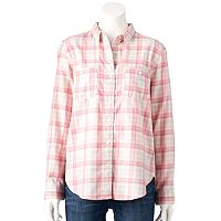 Women's Levi's Workwear Plaid Boyfriend Shirt