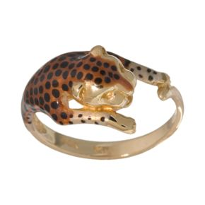 New York Gold Designs 14k Gold Leopard Ring