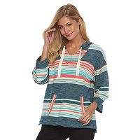 Women's Woolrich Quinn River Striped Poncho Sweater