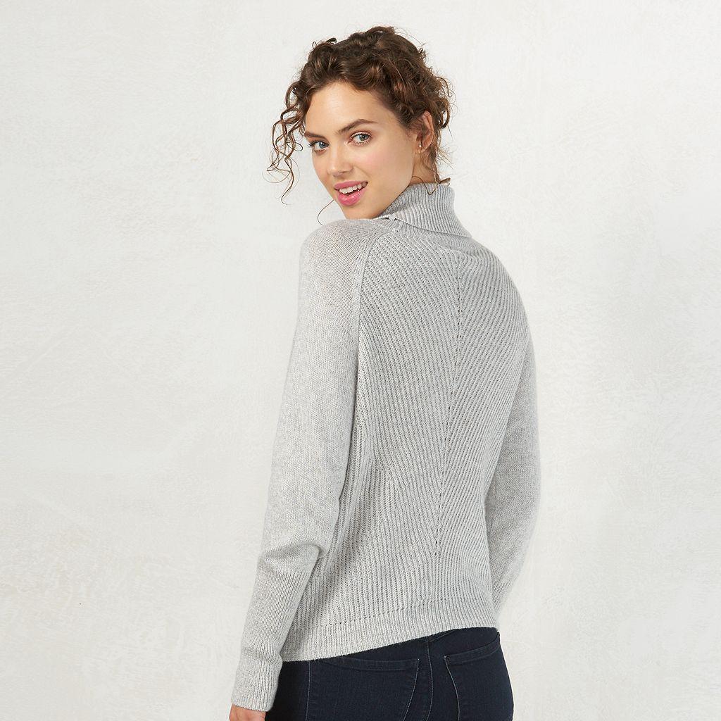 Women's LC Lauren Conrad Side-Tie Turtleneck Sweater