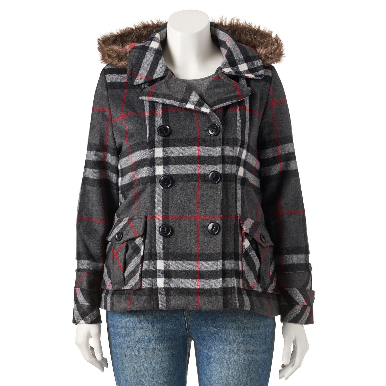 Juniors Plus Size Urban Republic Wool Blend Jacket