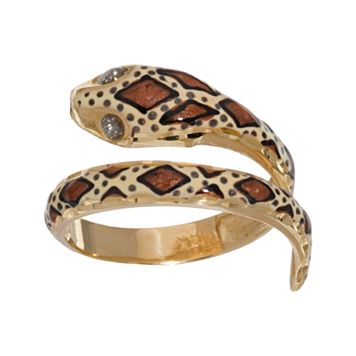 New York Gold Designs 14k Gold Snake Ring