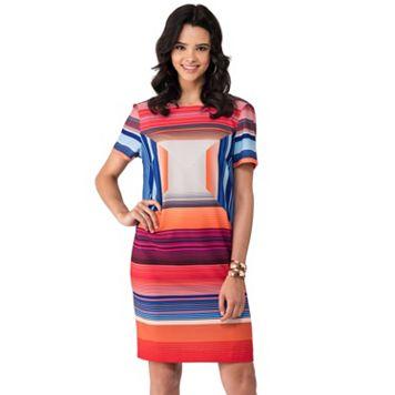 Women's Indication by ECI Geometric Shift Dress