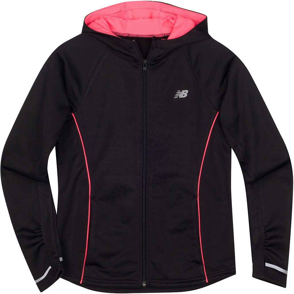 Girls 4-6x New Balance Relaxed-Fit Hooded Microfleece Track Jacket