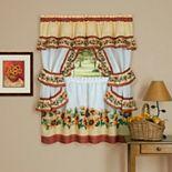 Achim 3-piece Black Eyed Susan Cottage Window Curtain Set