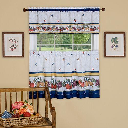 Achim 3-piece Fruity Tiles Window Set