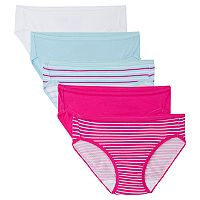 Girls 6-16 Fruit of the Loom 5-pk. Signature Breathable Bikini Panties
