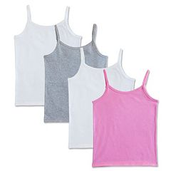 Girls 6-16 Fruit of the Loom 4-pk. Signature Camisoles