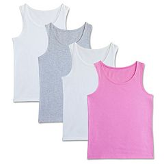 Girls 6-16 Fruit of the Loom 4-pk. Signature Racerback Tank Tops